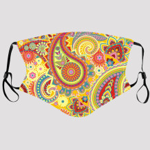 Yellow Fashion Casual Print Dustproof Face Protection