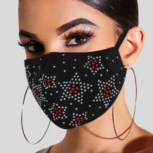 White Red Fashion Casual Hot Drilling Mask