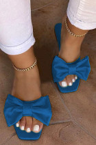 Blue Fashion Daily Split Joint Opend Comfortable Shoes