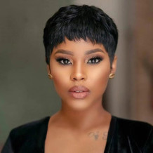 Black Fashion Solid High-temperature Resistance Short Hair Wigs