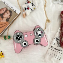 Pink Fashion Casual Game Console Crossbody Bag