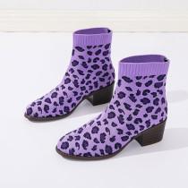 Purple Sportswear Sequins Pointed Keep Warm Sport Shoes