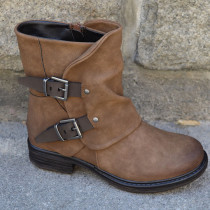 Brown Casual Round Shoes