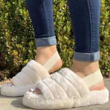 White Casual Round Shoes