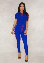 As Show-2 Stitching Mid Waist Elastic Waist Two-piece suit