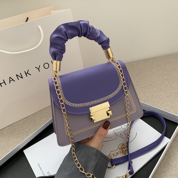 Purple Fashion Casual Patchwork Crossbody Bag