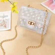 Transparent Color Fashion Casual Chain Strap Crossbody Bag