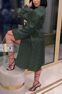 Black Green Fashion Sexy Print Nightdress