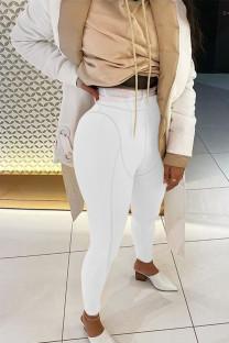 White Sportswear Solid Regular Bottoms