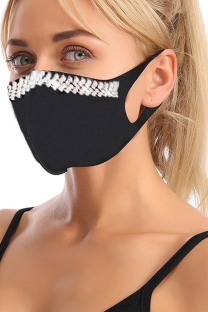 Red Black Casual Street Solid Hot Drilling Mask