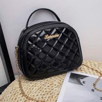 Black Fashion Casual Solid Chain Strap Crossbody Bag