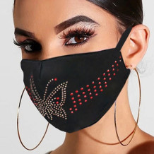 Golden Red Fashion Casual Hot Drilling Mask