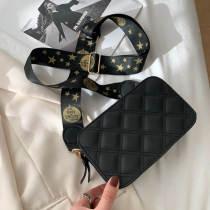 Black Fashion Casual Solid Crossbody Bag