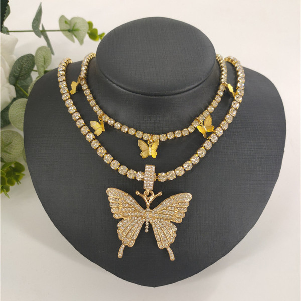 Gold Fashion Sexy Butterfly Necklace
