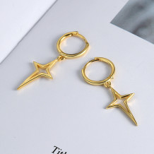Gold Fashion Street Solid The Stars Earrings