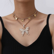 Gold Fashion Casual Butterfly Necklace