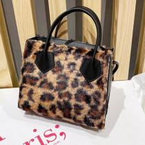 Leopard Print Fashion Casual Solid Patchwork Crossbody Bag