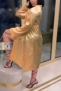 Champagne Fashion Sexy Print Nightdress