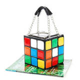Multicolor Fashion Casual Patchwork Crossbody Bag