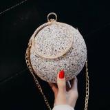 Pink Fashion Patchwork Round Crossbody Bag