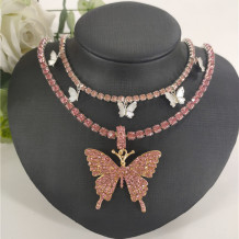 Pink Fashion Sexy Butterfly Necklace