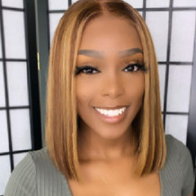 Brown Fashion Street Solid Wigs Accessories