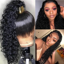 Black Fashion Solid High-temperature Resistance Wig