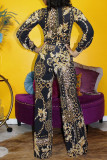 Gold Work Daily Print Without Belt O Neck Regular Jumpsuits