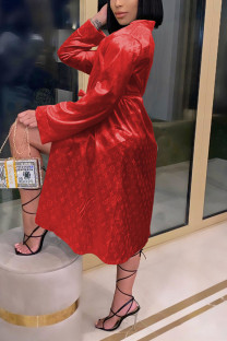 Red Fashion Sexy Print Nightdress