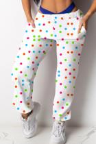 colour Polyester Elastic Fly Mid Print Harlan pants Pants Bottoms
