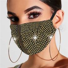 Yellow Fashion Casual Hot Drilling Mask