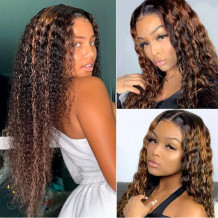 Brown Fashion Casual Long Curly Hair Wigs