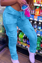 Blue Street Polyester Solid Bottoms