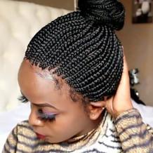 Black Fashion Solid Hign-temperature Resistance Wigs