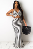 White Polyester adult Sexy Fashion Off The Shoulder Sleeveless Slip Pencil Dress Floor-Length backless Pri