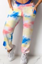 Yellow Polyester Elastic Fly Mid Print Harlan pants Pants Bottoms