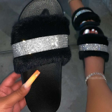 Black Daily Hollowed Out Opend Shoes