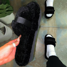 Black Casual Sweet Split Joint Opend Keep Warm Comfortable Shoes