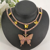 Silver Fashion Sexy Butterfly Necklace