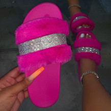Rose Red Daily Hollowed Out Opend Shoes