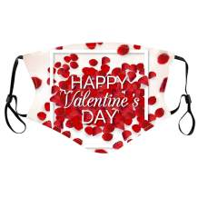 Red Fashion Casual Heart-shaped Print Face Mask