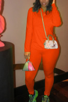 Tangerine Sportswear Solid Zipper Collar Long Sleeve Regular Sleeve Two Pieces