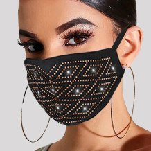 Gold Fashion Casual Hot Drilling Mask