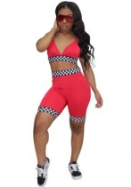 Pink Bright Sexy & Club Sleeveless Two Piece Clothes