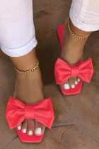 Red Fashion Daily Split Joint Opend Comfortable Shoes