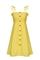 Yellow Fashion Sexy White Orange Yellow Multi-color Spaghetti Strap Off The Shoulder Sleeveless Slip A-Line skirt stringy selvedge Solid Dresses