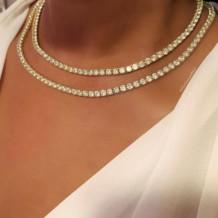 Gold Fashion Rhinestone Split Joint Necklaces