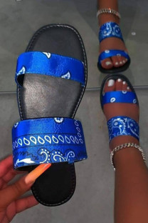 Blue Fashion Casual Split Joint Comfortable Out Door Slippers