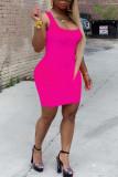 Yellow Fashion Casual Sling Short Dress
