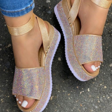 Gold Casual Street Split Joint Opend Out Door Shoes